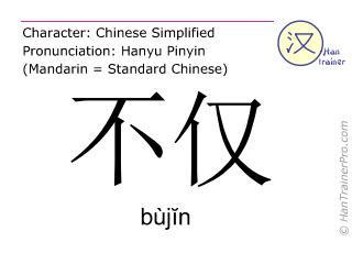Caracteres chinos  ( bujin / bùjĭn ) con pronunciación (traducción española: no sólo )