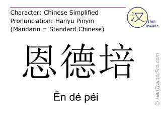 汉字  ( En de pei / &#274n dé péi ) 包括发音 (英文翻译: Entebbe )