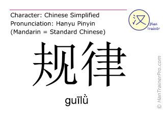 Caracteres chinos  ( guil&uuml; / gu&#299;l&#476; ) con pronunciaci&oacute;n (traducci&oacute;n espa&ntilde;ola: </b><i>(Disculpe - todav&iacute;a no hemos traducido </i>&#35268;&#24459; ( guil&uuml; / gu&#299;l&#476; ) <i> al espa&ntilde;ol. Por favor, intente la version ingl&eacute;s)</i><b> )