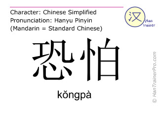 Caracteres chinos  ( kongpa / kŏngpà ) con pronunciación (traducción española: tal vez )