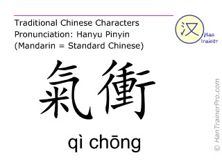 Chinese characters  ( qi chong / qì chōng ) with pronunciation (English translation: Stomach 30 )