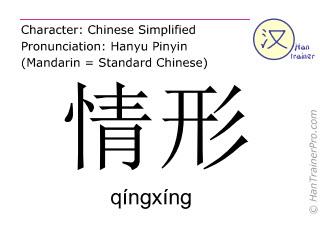 汉字  ( qingxing / qíngxíng ) 包括发音 (英文翻译: situation )