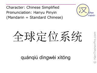 汉字  ( quanqiu dingwei xitong / quánqiú dìngwèi xìtŏng ) 包括发音 (英文翻译: gaps )