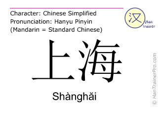 Chinese Characters Shanghai With Pronunciation English Translation