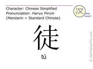 汉字  ( tu / tú ) 包括发音 (英文翻译: <m>merely</m> )