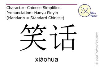 汉字  ( xiaohua / xiàohua ) 包括发音 (英文翻译: joke )