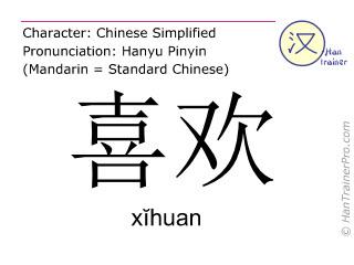 traduction fran aise de xihuan x huan aimer en chinois. Black Bedroom Furniture Sets. Home Design Ideas