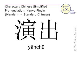 汉字  ( yanchu / yănchū ) 包括发音 (英文翻译: performance )