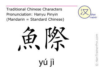 Chinese characters  ( yu ji / yú jì ) with pronunciation (English translation: Lung 10 )