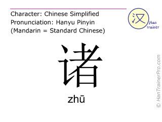 汉字  ( zhu / zhū ) 包括发音 (英文翻译: various )