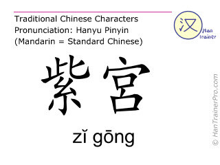 Chinese characters  ( zi gong / zĭ gōng ) with pronunciation (English translation: Ren Mai 19 )
